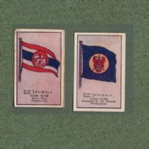 Collectible  SIAM cigarette cards old Thailand flags RARE ** #572